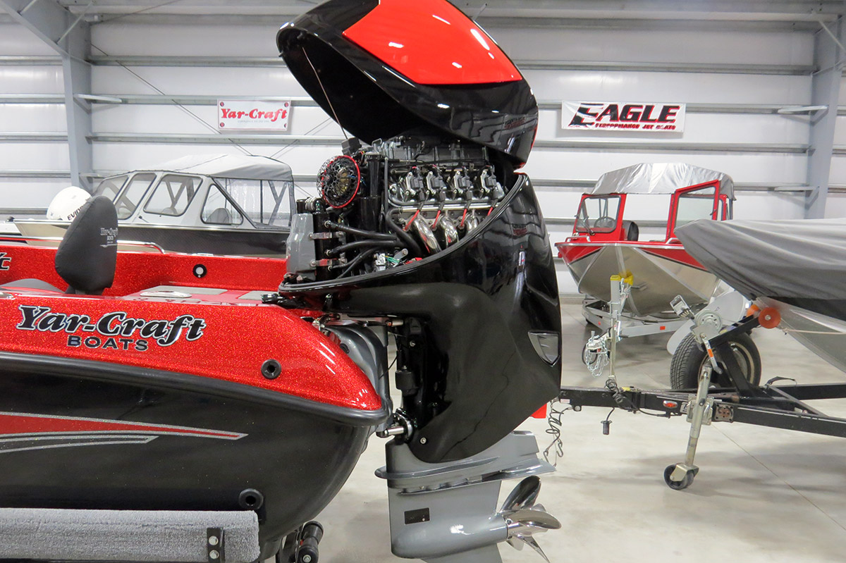 Exclusive Seven-Marine 557 Outboard Exposed